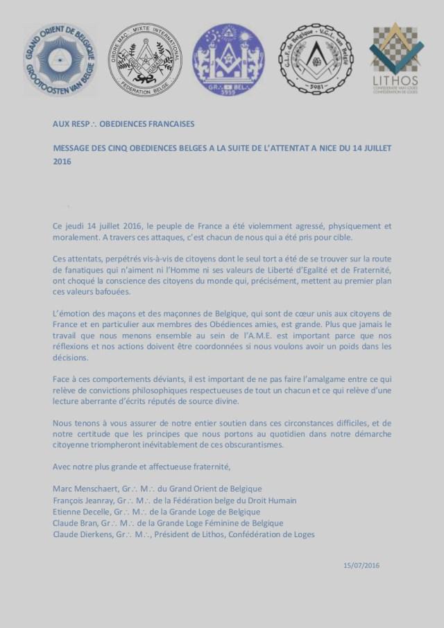 Attentat Nice 14.07.2016 - message des 5 Obéd. belges.jpg
