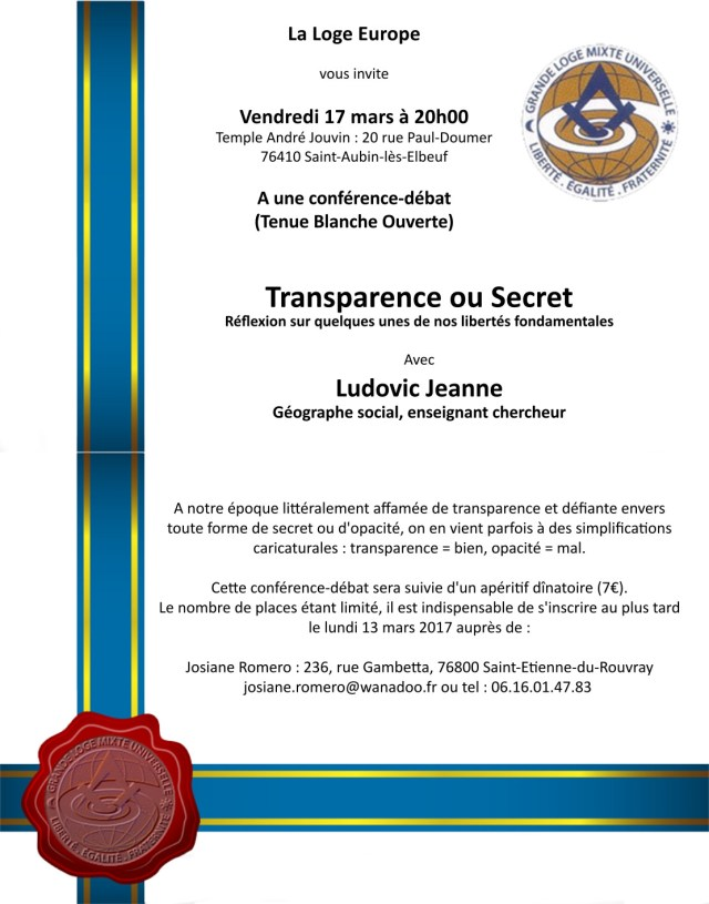 invitation Transparence ou Secret