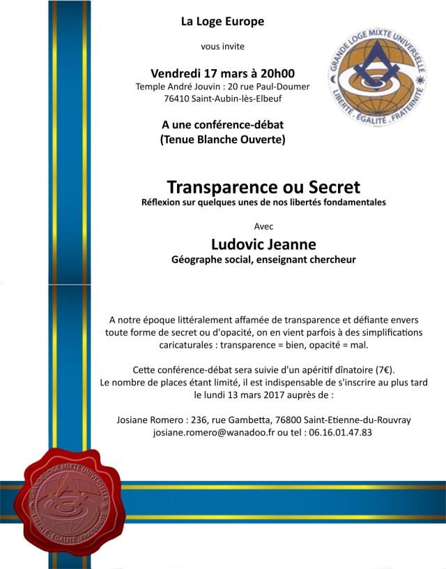 invitation Transparence ou Secret