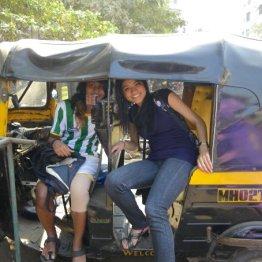 Rickshaw with Cousin