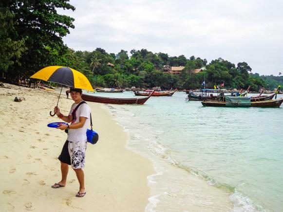 rainy season in southeast asia - koh Lipe beach in Thailand