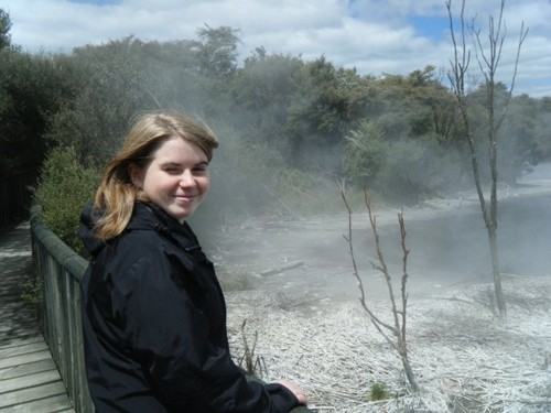 Visiting the geothermal pools of Rotorua with lovely Elina, my Swedish friend I met in New Zealand