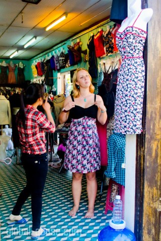 Buying a Dress in Hoi An