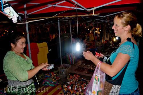 The Night Market in Luang Prabang, Laos