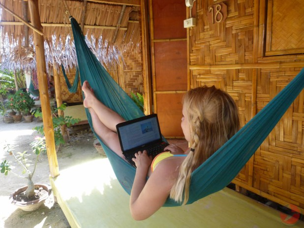 Working in a Hammock
