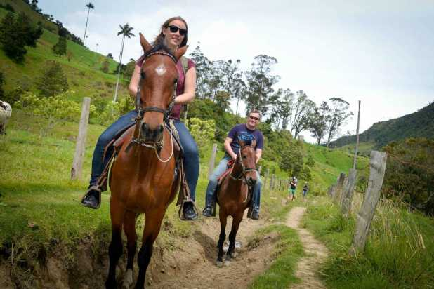 Horseback riding in the Valle de Cocora, Colombia.