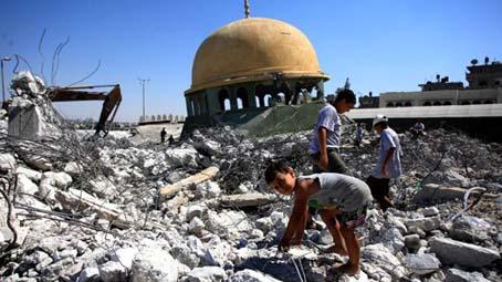 masjid yang dirobohkan militer Israel