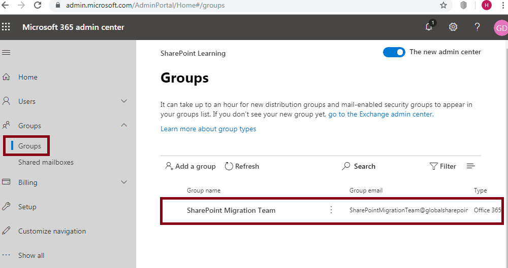 Office 365 group is created from Microsoft Teams -Microsoft Teams SharePoint Integration