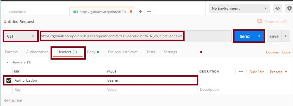Retrieve the Tenant ID in Postman tool: Postman tool SharePoint online REST API