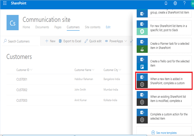 When a new item is added in SharePoint, complete a custom - How To Create And Format HTML Table Using Microsoft Flow