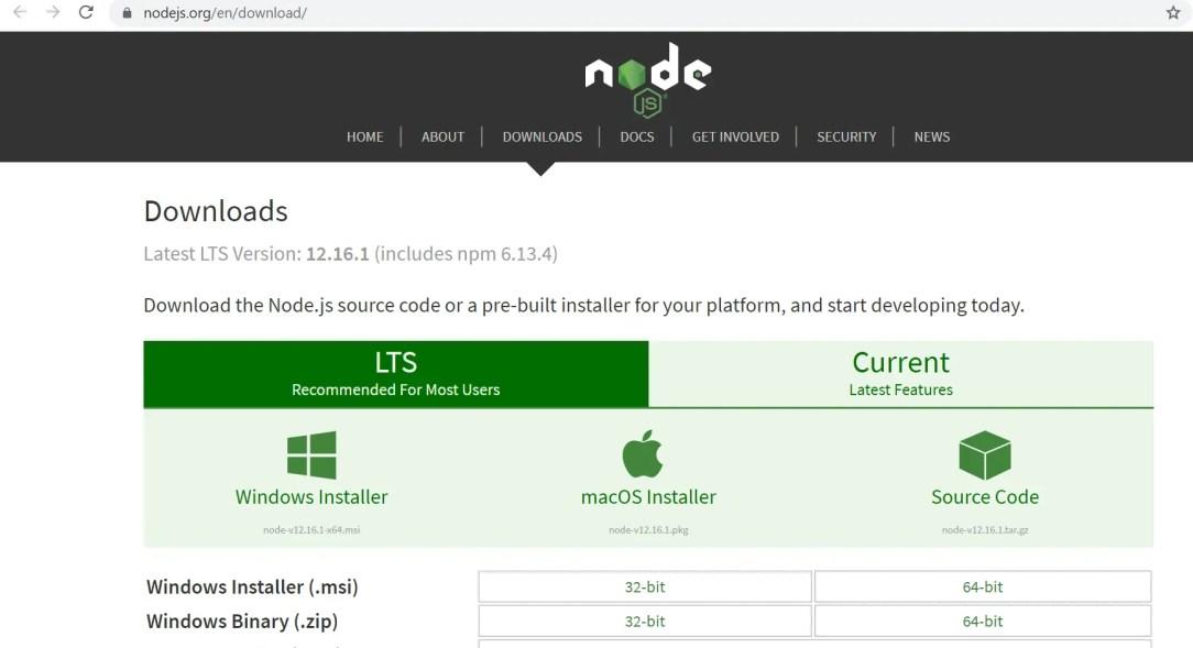 Download NodeJS - https://nodejs.org/en/download/