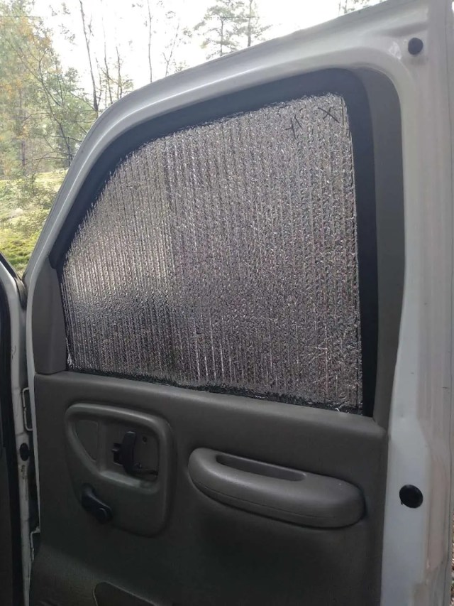 DIY window shade van life