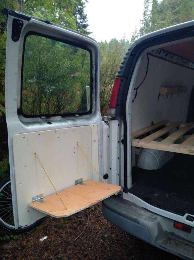 DIY table van life
