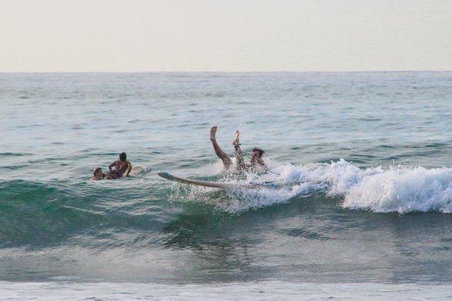 surfing in Puerto Escondido