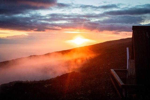 sunset from Horombo camp