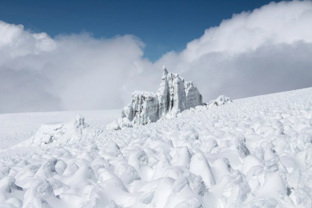 Kibo summit glaciers