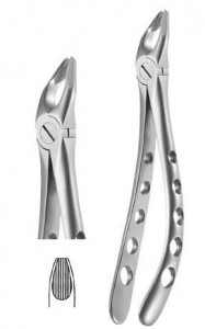 Upper Universal, beveled beaks,Atraumatic X-TRAC forceps - 3508