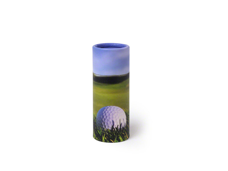 Scatter Tube ashes scattering container in Golf design - x-small keepsakesize