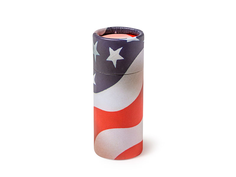 Scatter Tube ashes scattering urn container. Patriot design. Scatter Tube ashes scattering urn container. Petributes are the creators of the original Scattering Tubes in the widest range of sizes and designs available. Bespoke and branded designs by arrangement