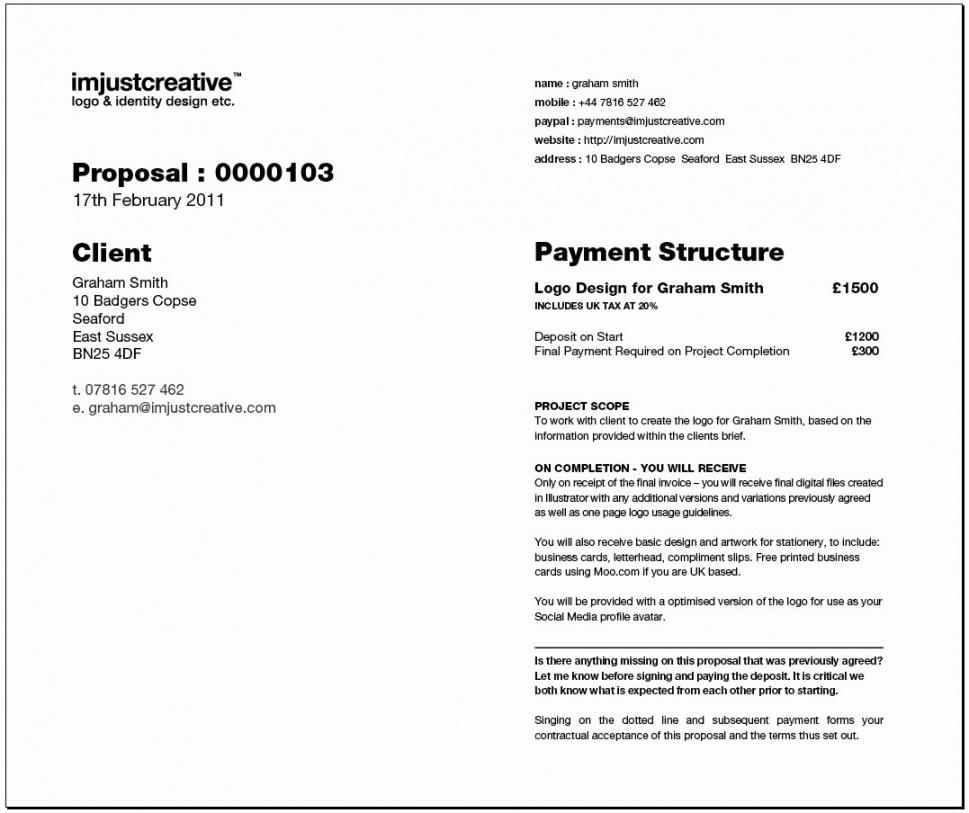 Download Logo Design Proposal Pdf Bonsai