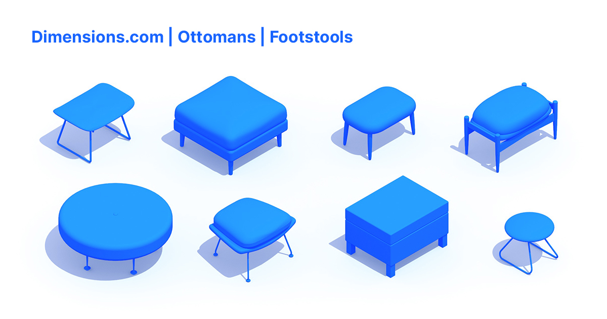 ottomans footstools dimensions