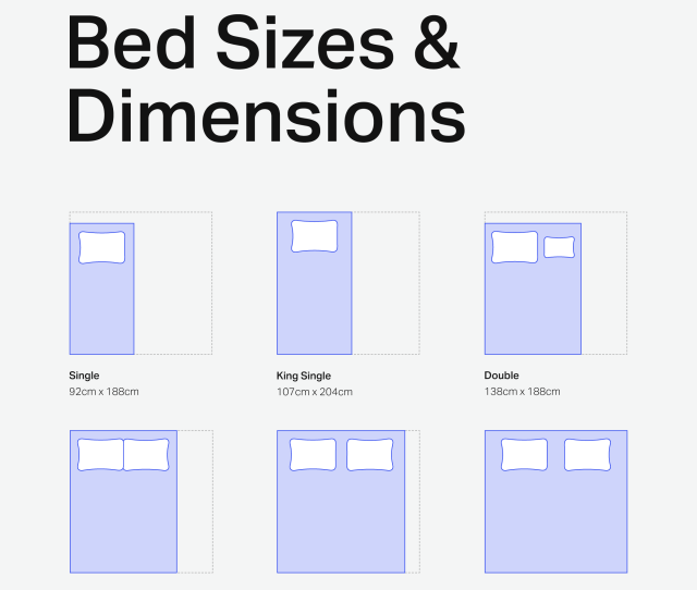 Australian Bed Size Chart Betterbed