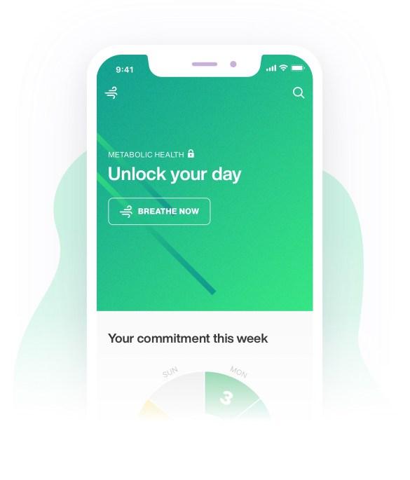 screenshot from lumen metabolism trackers mobile app - unlock day