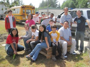Lakeside students during a service project at Makah Indian Reservation