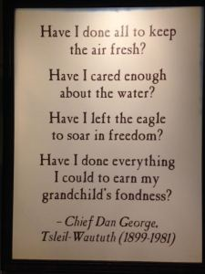 Quote in the museum