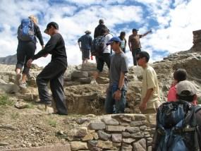 Hiking the ruins