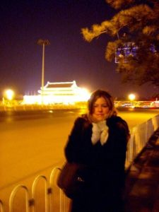 Me across the street from Tiananmen in the heart of Beijing winter.