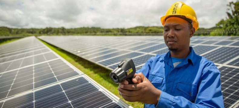 Paneles solares en Mauricio