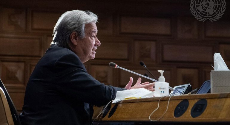 Guterres calls on US to lead global vaccination plan effort, climate action