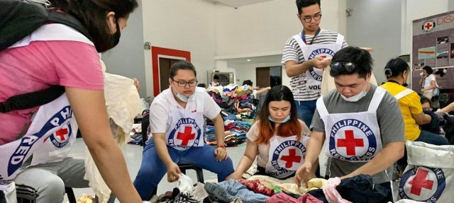 Image result for relief goods taal volcano