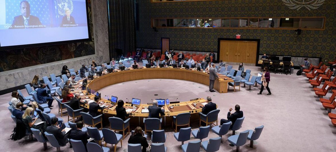 Security Council meets on Yemen, 14 October 2021.
