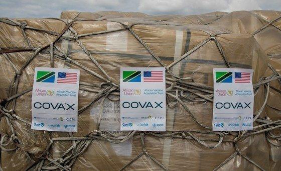 COVID-19 vaccines delivered through the COVAX Facility arrive in Tanzania.