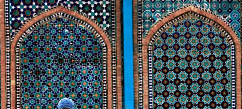 La mosquée Mazar-e Sharif en Afghanistan
