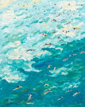 Joanna Blair - Summer Holidays - 51cm x 41cm Oil on canvas