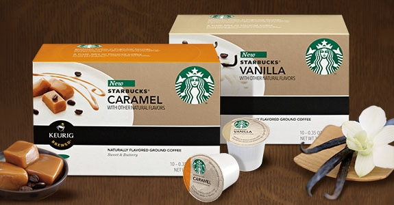 Starbucks® flavored K-Cup® packs.