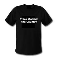 Think outside the country t-shirt