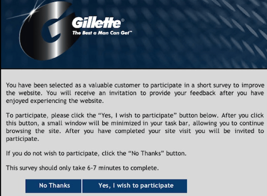 Gillette survey