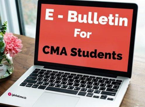 E-Bulletin for CMA Students