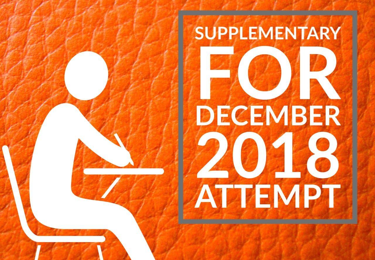 CMA Exams Supplementary – December 2018