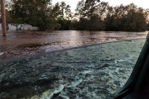 Flooding during Hurricane Florence
