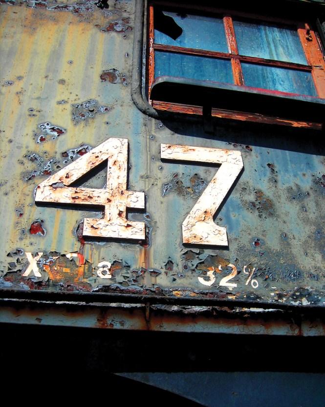 Rusty train detail in Scranton, Pennsylvania