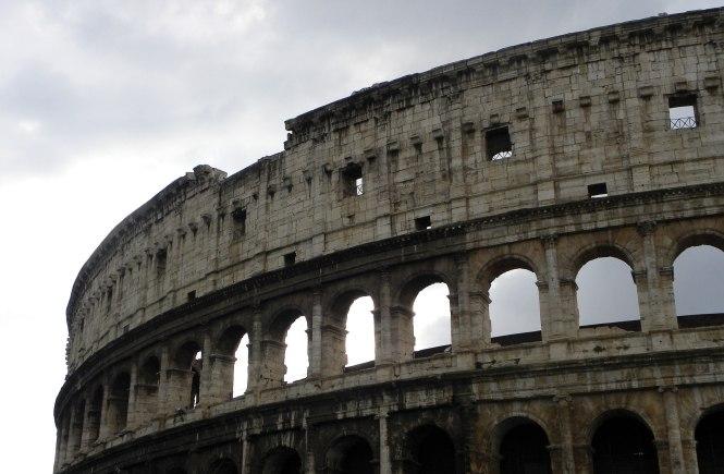 Close-up of Rome Coliseum