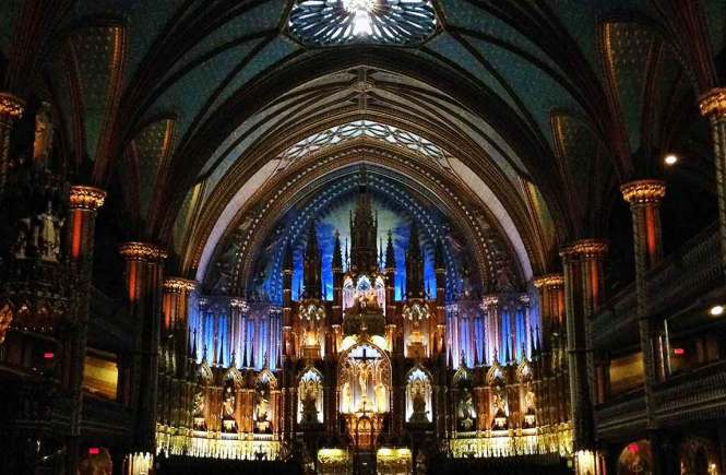 Montreal's Notre Dame Basilica on a long weekend