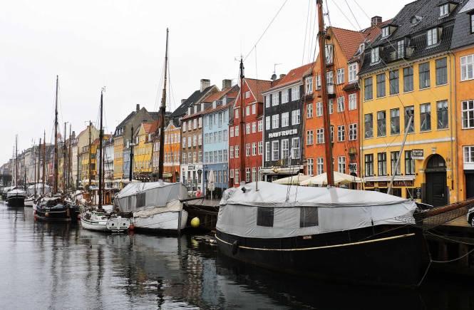 A Nyhavn canal in Copenhagen