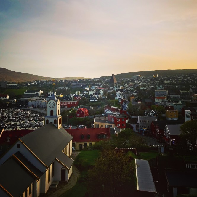 Torshavn sunset in Faroe Islands.