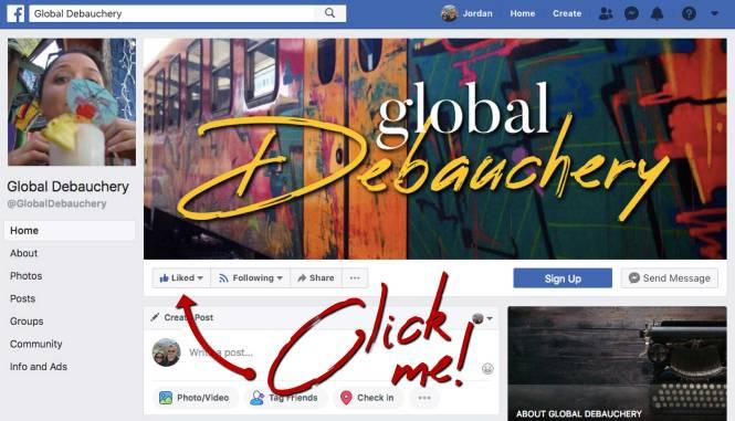 Global Debauchery Facebook page